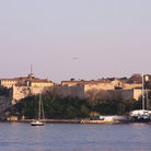 Picture - View of Sainte Marguerite Island near Cannes.