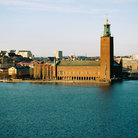 Picture - Stockholm's City Hall on the waterfront.