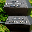 Picture - A sign post found on the National Cycle Network at Stockton -on -Tees.