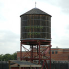 Picture - Water tower at the Historic Fort Worth Stockyards.