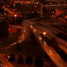 Picture - Atlanta highways at night.