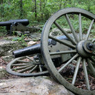 Picture - Ruins of a Federal Cannon at the Stones River Battlefield.