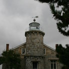 Picture - The front of the Stonington Lighthouse.