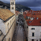 Picture - Crowds walk along Stradun, the main street of old Dubrovnik.