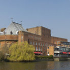 Picture - The Shakespeare Memorial Theatre on the River Avon at Stratford-upon-avon.