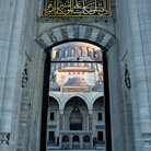 Picture - View through the doorway of the Sulejmania Mosque in Istanbul.