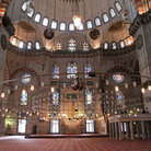 Picture - Interior of the Suleymaniye mosque in Istanbul.