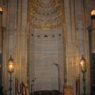 Picture - The decorated mihrab facing Mecca in the Suleymaniye Mosque in Istanbul.