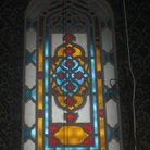 Picture - Detailed of the colorful stained glass windows in the Suleymaniye Mosque in Istanbul.