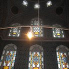 Picture - Colorful stained glass windows in the Suleymaniye Mosque in Istanbul.
