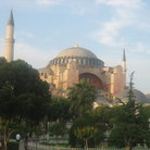Picture - The Haghia Sophia - originally a church, later a mosque, now a museum in Istanbul.