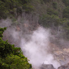 Picture - Steam from the volcanic area near Soufriere.