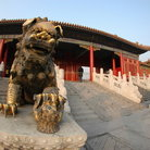Picture - Bronze sculpture in the Summer Palace park in Beijing.