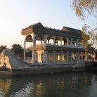 Picture - Non-floating marble boat in the Summer Palace, Beijing.