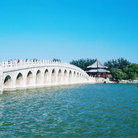 Picture - Bridge at Beihai Park in Beijing.