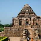 Picture - View of the Sun Temple in Konark.
