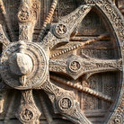 Picture - Ornately carved wheel of the Sun temple in Konark.