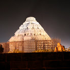 Picture - Dome of the Sun Temple in Konark at night.