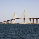 Picture - The Sunshine Skyway bridge over Tampa Bay seen during the day.
