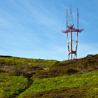 Picture - A stairway leading to the hilltop at Sutro Tower.