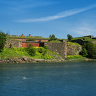 Picture - Ruins on the waterfront at Suomenlinna.