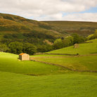 Picture - A barn in a field in Swaledale.
