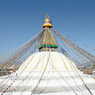 Picture - Full view of Swayambhunath Stupa in Kathmandu.