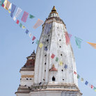 Picture - Decorative tower of Swayambhunath Buddhist Temple, also known as the monkey temple, in Kathmandu.