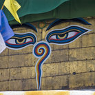 Picture - Eyes on the stupa at Swayambhunath buddhist temple near Kathmandu.