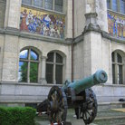 Picture - The canon dating back to 1678 in the grounds of the Swiss National Museum in Zurich.