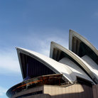 Picture - Arches and windows of the Sydney Opera House, Sydney .