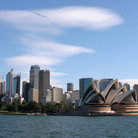 Picture - Sydney Opera House and city skyline, Sydney.