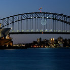 Picture - Sydney Harbor Bridge and the Sydeny Opera House.