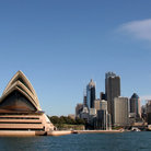 Picture - The Sydney Opera House and city skyline.