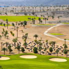 Picture - View over a golf course and desert at Taba.