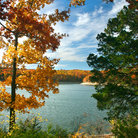 Picture - Scenic Fall colors on Table Rock Lake.