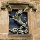 Picture - Carved lion at Tain.
