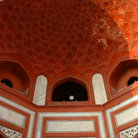 Picture - Interior of the Taj Mahal in Agra.