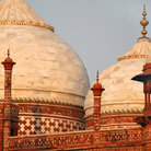 Picture - Domes from the Taj Mahal complex in Agra.