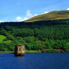 Picture - View of the Talybont Reservoir.