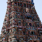 Picture - Temple top in Chennai.