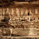 Picture - Statues at the Kailashanatha temple in Kanchipuram.