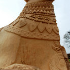 Picture - Cow statue at Rajendracholan temple.
