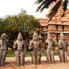 Picture - Row of statues at the Rajendracholan Temple.