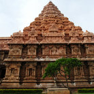 Picture - Ornate exterior of the Rajendracholan Temple.