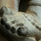 Picture - Carved foot at the Rajendracholan Temple.