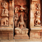 Picture - An ornate wall at the Brihadishvara Temple in Tanjore.