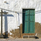 Picture - Door and cross, Teguise, on the Island of Lanzarote.