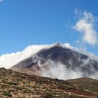 Picture - Volcano and cloud at El Teide, Tenerife.