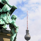 Picture - Television Tower and Angels in Berlin.